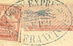 Pony Express stamp and postmark.