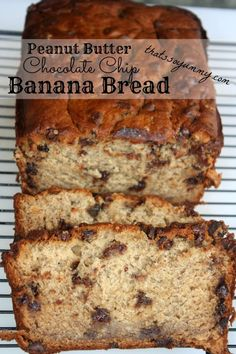 Peanut Butter Chocolate Chip Banana Bread  Katelyn K-Made these today (4/20). Baked in muffin tins for 20mins. Will make again! I also tweaked the recipe. Used 1C WWheat flour and 1C All purpose. Also split the sugar up. Used 1/2 cup sugar and 1/2 cup of low fat plain Greek yogurt