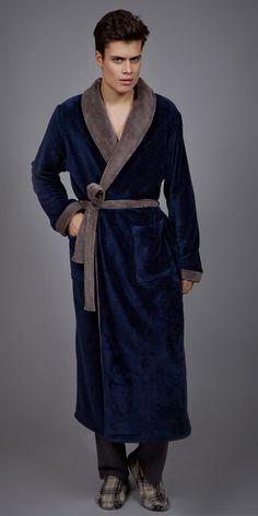 Men's Robe Polar Fleece 1757 Bath Robes, Polar Fleece, Pyjamas, Gentleman, Essentials, Sewing, Luxury, Men, Collection