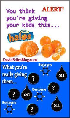 HALOS / CUTIES ORANGES POISONOUS? From: DavidStilesBlog.com