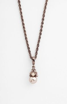 Givenchy Pendant Necklace available at #Nordstrom in sliver