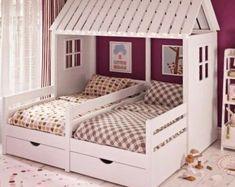 Kids Bedroom Designs, Room Design Bedroom, Kids Room Design, Bedroom Decor, Bedroom Wall, Child Bed Design, Master Bedroom, White Bedroom, Bed For Girls Room