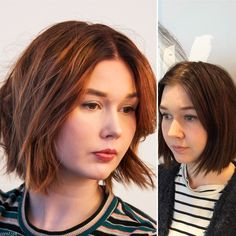 Before and after #color #bob
