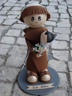 O Cantinho da Marta: Santo António - Menino Cabelo Preto - EVA