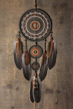 Capteur de rêves / Dreamcatcher / gris brun par MyHappyDreams