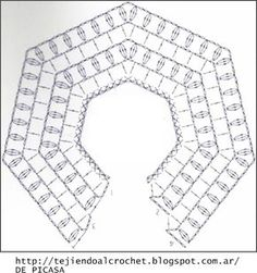 Discover thousands of images about Irish lace, crochet, crochet patterns, clothing and decorations for the house, crocheted. IG ~ ~ crochet yoke for girl's dress ~ pattern diagram Elegant dresses + crochet skirt of tulle. Poncho Crochet, Col Crochet, Crochet Baby Dress Pattern, Crochet Girls, Crochet Baby Clothes, Crochet Blouse, Crochet Chart, Crochet For Kids, Hand Crochet