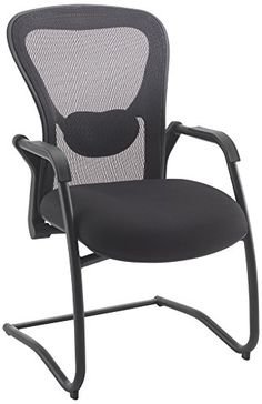 Office Hippo 24 Hour Visitor Chair with Adjustable Lumbar Support - Mesh, Black---248.93---