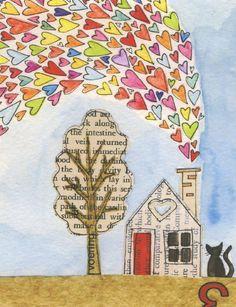 A Tiny Life No.3  Lil Art Card by SusanBlackArt on Etsy