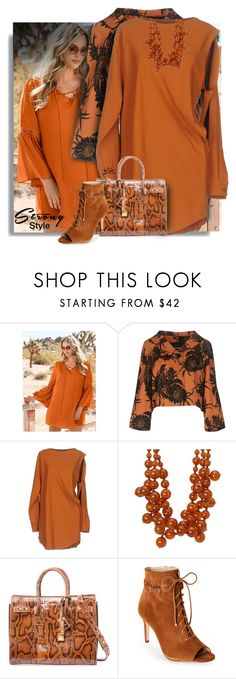 """""""Strong Style"""" by breathing-style ❤ liked on Polyvore featuring Venus, Prada, MM6 Maison Margiela, Kenneth Jay Lane, Jones New York and plus size dresses"""