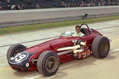 Bobby Grim Leader Card Racing Associates Special - 1963 Watson Offenhauser Roadster – Qualified: Speed mph) Finished: Crash, Front Straight Away, on Lap – 1 of 11 Car Incident Indy Car Racing, Indy Cars, Indianapolis Motor Speedway, Classic Race Cars, Cummins Diesel, Old Race Cars, Sprint Cars, Vintage Race Car, Courses