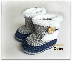 Fuzzy Booties by Crochet Zone -Free Crochet Pattern