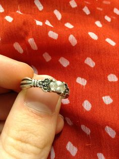 My grandma's engagement ring #vintagering I'm obsessed.