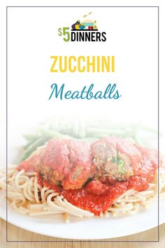 This zucchini meatballs recipe is a great dinner idea for the whole family. Your kids will not even notice that there are veggies inside this meal! Learn how to make this easy dinner recipe today! #zucchini #meatballs #beefrecipe Best Pasta Recipes, Easy Dinner Recipes, Meatball Recipes, Beef Recipes, Healthy Dishes, Healthy Recipes, Zucchini Meatballs, Batch Cooking