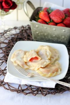 Strawberry Pierogi .... my favorite food ever. I could eat that for breakfast, lunch and dinner :-)