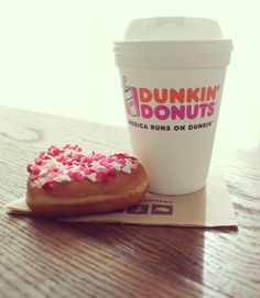 Have a heart-shaped donut with your Dunkin' coffee today!
