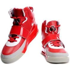 Mens Air Yeezy Shoes Red Grey White Internal