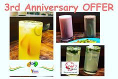 Indore Rocks 3rd Anniversary offer: Get the 3rd DRINK FREE at this rocking restaurant !! Check details only on Indore Rocks site: http://www.indorerocks.com/offers/list