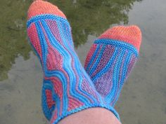 Ravelry: knitsabout's freeform short row socks #4