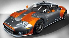 orange and grey, Spyker LM 85 car wrap foil vinyl I'm loving this car looks cool