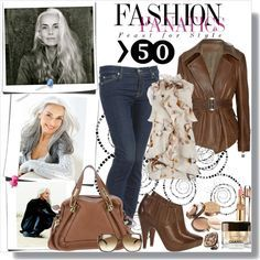 """""""How you will dress a woman over 50 fashionable and with fantasy"""" by… Fashion For Women Over 40, 50 Fashion, Fashion Outfits, Fashion Trends, Fashion Stores, Ladies Fashion, Fasion, Fashion Ideas, Casual Outfits"""