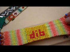 """pulsera de mostacillas con bastidor pulsera de """"telares d.i.b"""""""