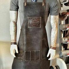 Avental em couro Old School Leather.  Enviamos nossos produtos personalizados com a sua logomarca pa - oldschoolleather