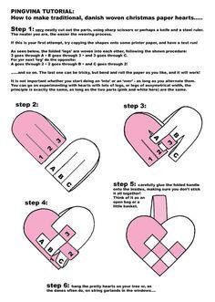 Scandinavian Christmas Paper Hearts DIY Kit by pingvina on Etsy