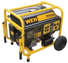 9,000 Watt Gasoline Generator with Wheel Kit and Electric Start