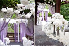 Dream Wedding isle decor, except in neutral colors and with candles