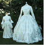 Brocade Sparkle Marie Antoinette Gown