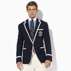Need we say more? Ralph Lauren Wimbledon Collection Jacket - I could wear mine every day, it simply dots the I to each and every one of my preppy outfits #RalphLauren #Prep