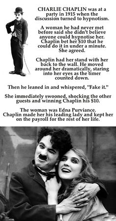 Cool story about Charlie Chaplin from I Waste So Much Time
