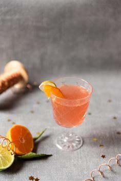 Cocktail pétillant clémentine cranberry