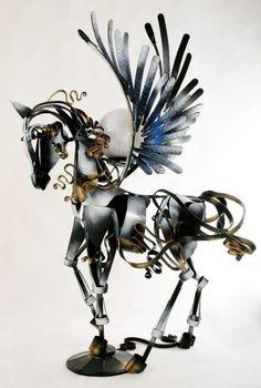 Кованая скульптура №41   * Wrought iron sculpture www.ArtSklad.net