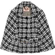 Juicy Couture Woven Wool-Blend Cape