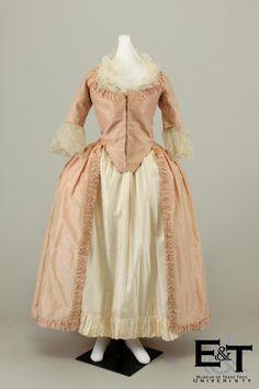 Pink Silk Polonaise Robe, 1775-1780