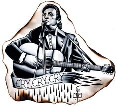 Cry Cry Cry johnny cash tattoo. love everything except the tear and the eye