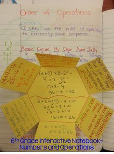 Teacher Testimonial: 6th Grade Interactive Notebook Order of Operations