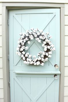 Cotton Wreath Fall W