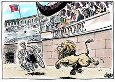 Jos Collignon - CagleCartoons.com - Trumpcare - English - Trumpcare,Trump,