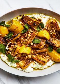 I took the method from our marinated zucchini with ricotta and hazelnuts recipe, but I'm using it on all vegetables this summer.