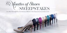Win A Pair Of Shoes Every Month For A Year