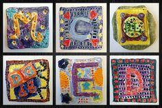 BES Art: Clay Initial Tiles