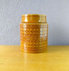Hornsea Coffee Jar/ 70s Hornsea Pottery Vintage Retro Ceramic