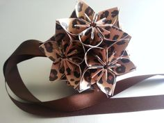 Wild Cheetah Kusudama Origami Ornament by Kusudagami on Etsy, $10.00