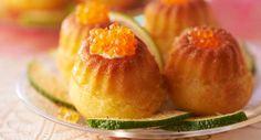 Mini babas aux œufs de saumonVoir la recette des Mini babas aux œufs de saumon >>