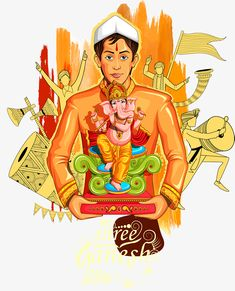 A man who looks like a god Ganesha Sketch, Ganesha Drawing, Ganesha Art, Shri Ganesh Images, Ganesha Pictures, Lord Shiva Painting, Ganesha Painting, Dancing Ganesha, Shivaji Maharaj Hd Wallpaper