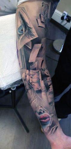 niesamowity tatuaż 3d na ręce