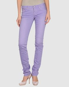 Lavender jeans will be my new neutral this season!