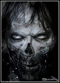 Fear The Walking Dead - Randy Siplon Arte Zombie, Zombie Art, Zombie Cartoon, Zombie Movies, Wild Pictures, Creepy Pictures, Zombies, Horror Artwork, Dark Love
